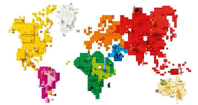 レゴブロックは世界各地で販売されています。