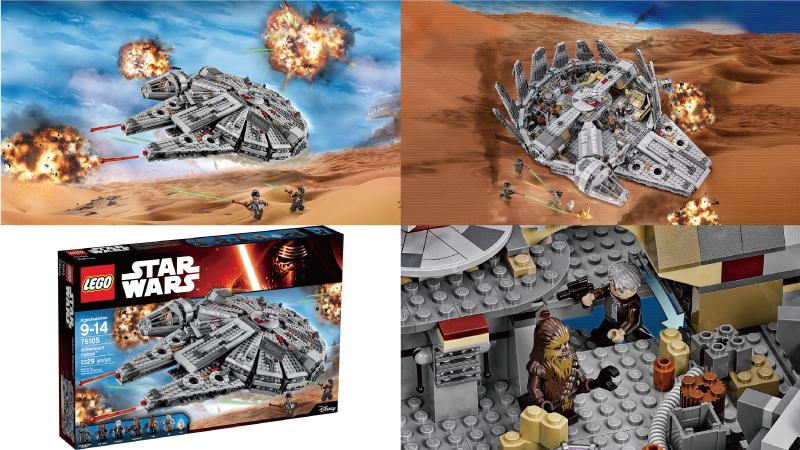 ミレニアムファルコンの最新のレゴモデル 商品情報ページ
