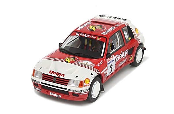 オットーモビル/プジョー205 T16 グループB Belga Rallye Ypres 1985 (赤/白)