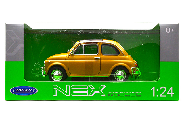 ウェリー/フィアット NUOVA 500 1957 イエロー(黄土色)