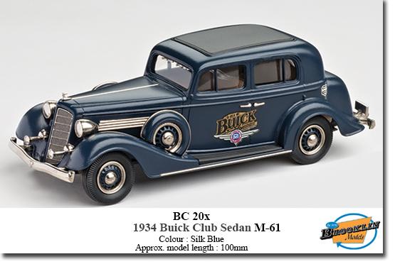 1934 Buick Club Sedan M-61 Blue