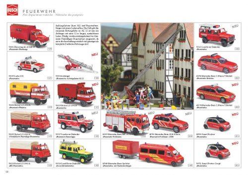 豊富な消防車ラインナップ