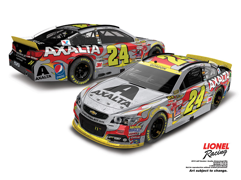 LIMITED QTYS! JEFF GORDON 2015 AXALTA HOMESTEAD FINAL RACE VERSION 1:24 CLR CHM ELITE