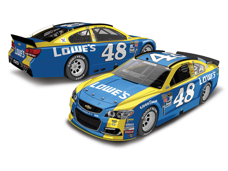 JIMMIE JOHNSON 2016 LOWE'S DARLINGTON 1:24 LIQ CLR ELITE