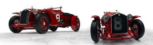 1932と1933のル・マン優勝車のアルファロメオ かっこいいですね~!