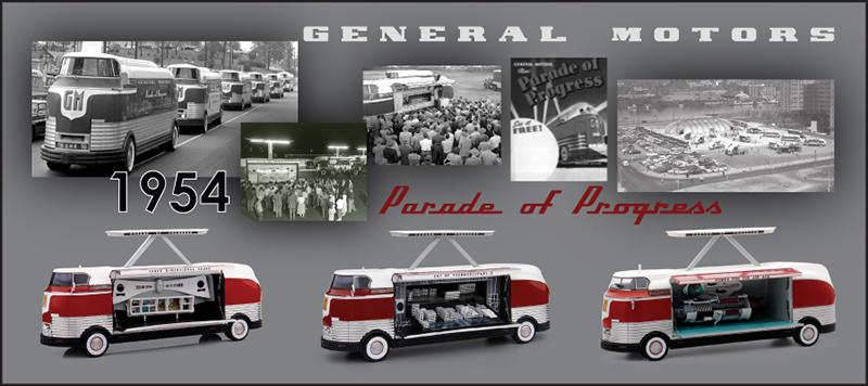 GM Futurliner 1954 シリーズ 細かい作り込みが魅力です。