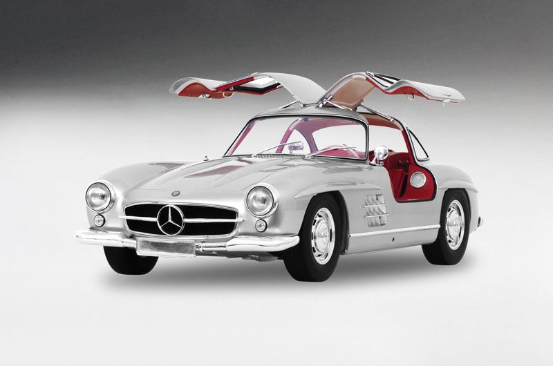 1/8  MasterCraft Mercedes-Benz 300 SL Gullwing 1956 Silver Limited 50 Pcs